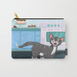 Kitty Spies A Tasty Surprise Carry-All Pouch
