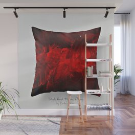 Dark Red Throw Pillow Art Print 3.0 #postmodernism #society6 #art Wall Mural