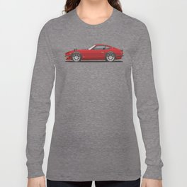 Legendary Classic Red 240z Fairlady Vintage Retro Cool German Car Wall Art and T-Shirts Long Sleeve T-shirt