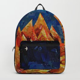 Star Bloom Collage Backpack