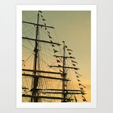 Ship flags at the Tall Ships Race Waterford 2011 Art Print