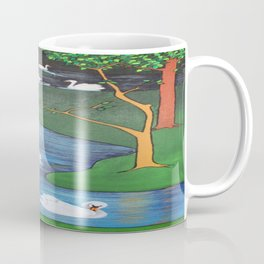 A Flock of Seven Swans-A-Swimming Coffee Mug