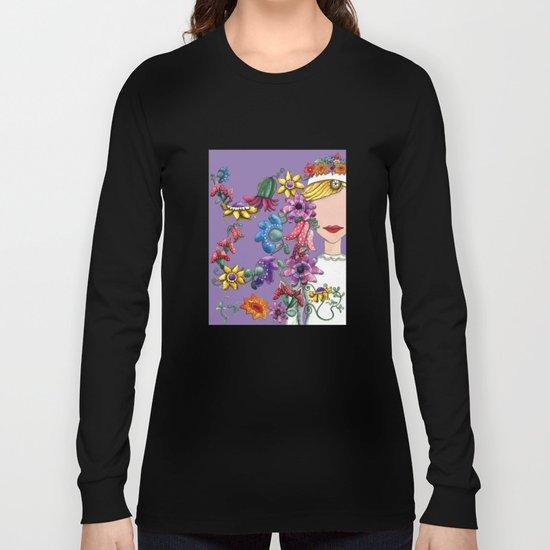 I Love the Flower Girl Lavender Long Sleeve T-shirt