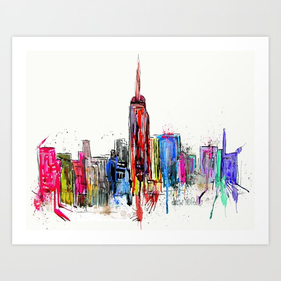 new york inked  Art Print