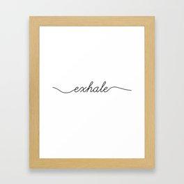inhale exhale (2 of 2) Framed Art Print