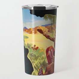 Africa by Clipper  - 1960s Vintage Travel Poster Travel Mug