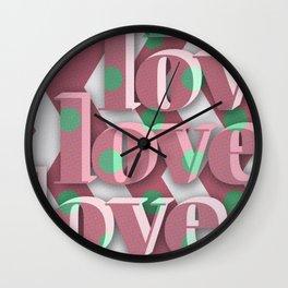 lovelovelove Wall Clock