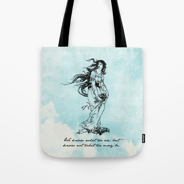 50c7b209f486 Hamlet - Ophelia - William Shakespeare Tote Bag by fivepennystudio ...
