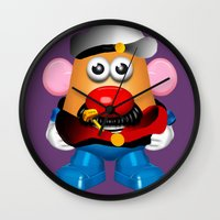popeye Wall Clocks featuring Popeye Potato Head by tgronberg