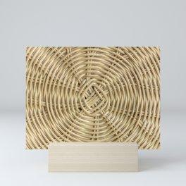 Rattan wickerwork texture Mini Art Print