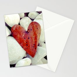 leaf heart Stationery Cards