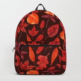 Autumn leaves watercolor Backpack