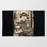 fairy tale Area & Throw Rugs featuring Fairy tale by Paula Duta