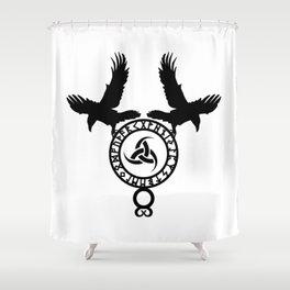 Raven - Triple Horn of Odin Shower Curtain