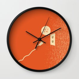 Outlet & Plug Wall Clock
