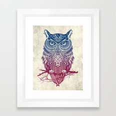 Evening Warrior Owl Framed Art Print