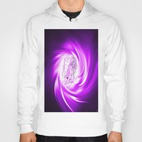 erotic Hoodies featuring Space and time 8  Erotic by Walter Zettl