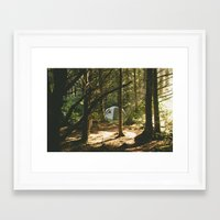 camping Framed Art Prints featuring Camping by Jesse Morrow