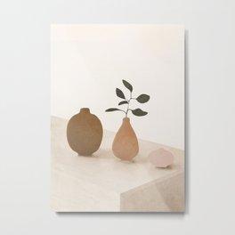 Vase Decoration III Metal Print