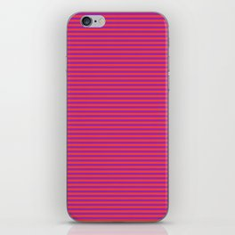 Even Horizontal Stripes, Red and Purple, XS iPhone Skin