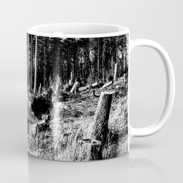 Fallen And Broken Trees After Storm Victoria February 2020 Möhne Forest 9 bw Coffee Mug
