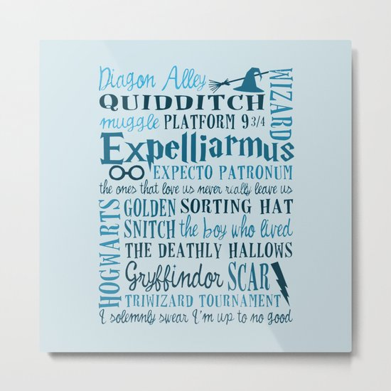 Harry Potter - All Quotes  Metal Print