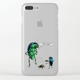 Dung Beetles Clear iPhone Case
