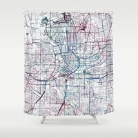 atlanta Shower Curtains featuring Atlanta map by MapMapMaps.Watercolors