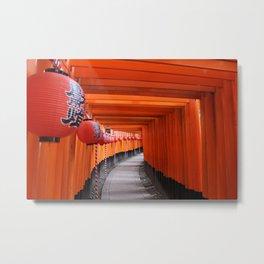 Fushimi Inari-taisha Shrine Metal Print
