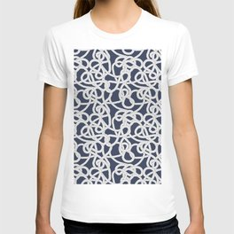 Nautical Rope Knots in Navy T-shirt