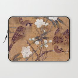 Sparrows, plum blossoms, and bamboo Laptop Sleeve