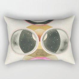 Moon and Orbs Rectangular Pillow