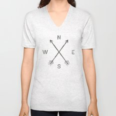Compass (Natural) Unisex V-Neck