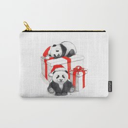 Christmas-Panda's babies g144 Carry-All Pouch