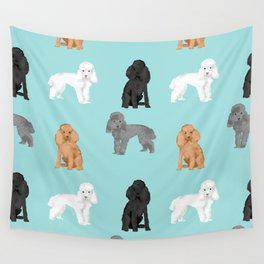 Toy Poodles mixed coat colors dog breed gifts pet portraits must haves poodles Wall Tapestry