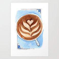 I Like You a'Latte Art Print