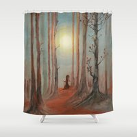 wizard Shower Curtains featuring Track 7: The wizard by Viviana Gonzalez