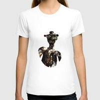 robot T-shirts featuring robot by Кaterina Кalinich