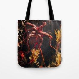 Blooming Crimson Octopus Tote Bag