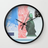 allyson johnson Wall Clocks featuring Magic Johnson by Young Weirdos Guild