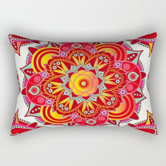 Root Chakra Mandala Rectangular Pillow