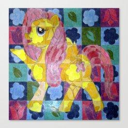 Fluttershy In Bloom Canvas Print