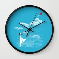 let it go Wall Clocks featuring Let Go by I Love Doodle