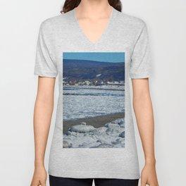 Frozen Beach Unisex V-Neck