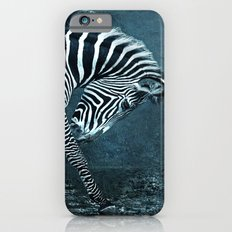 blue zebra Slim Case iPhone 6