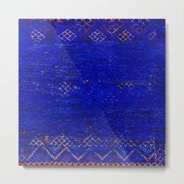 -A5- Royal Calm Blue Bohemian Moroccan Artwork. Metal Print