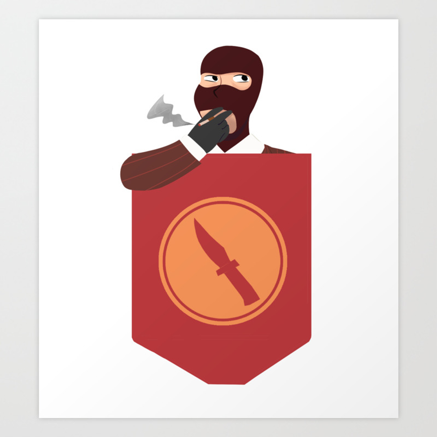 tf2 pocket spy art print by dorixels society6 tf2 pocket spy art print by dorixels