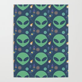 Aliens in Outerspace Poster