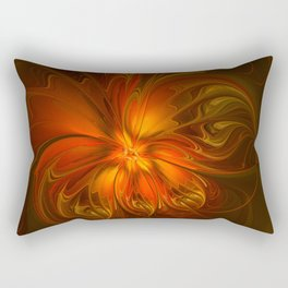Burning, Abstract Fractal Art With Warmth Rectangular Pillow