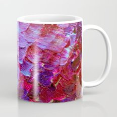 MERMAID SCALES - Colorful Ombre Abstract Acrylic Impasto Painting Violet Purple Plum Ocean Waves Art Mug